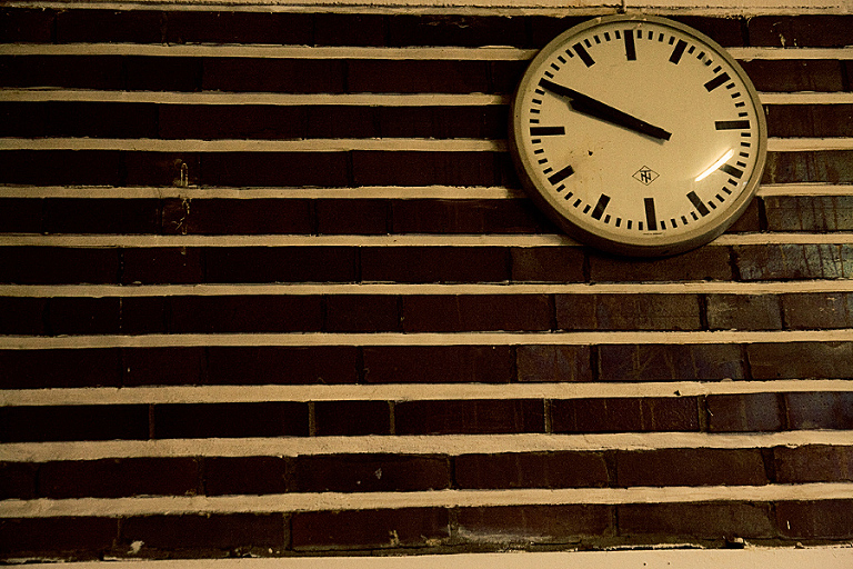 Mittleheim Germany Train Station Clock