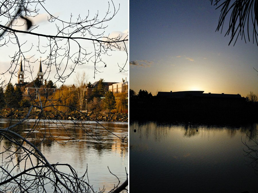 Sunrise & Sunset at Gonzaga University