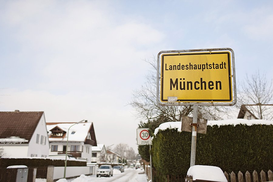 Munich neighborhoods snow