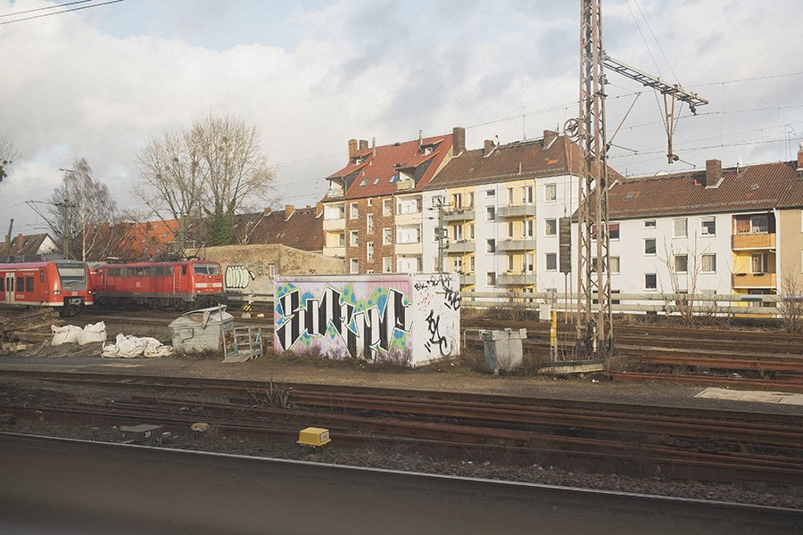 Riding trains in Germany