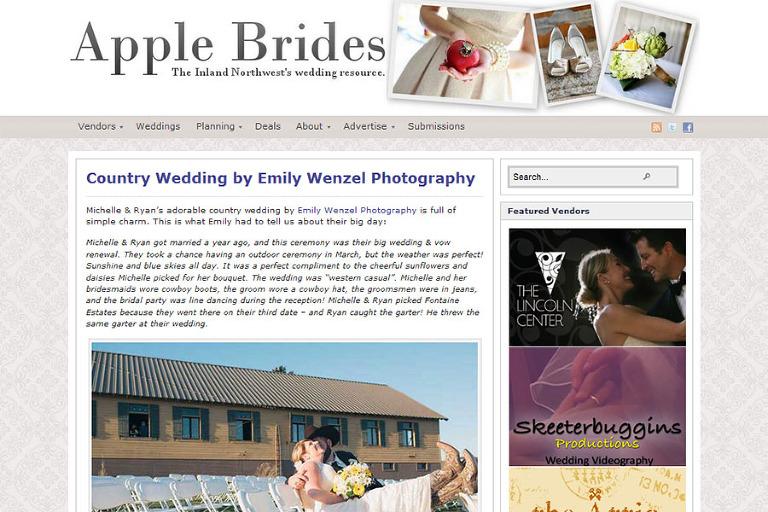 Fontaine Estates Wedding Featured on Apple Brides