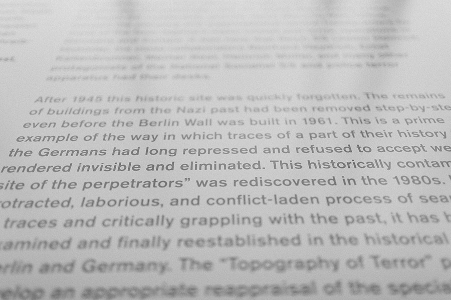 Berlin Topography of Terror Museum