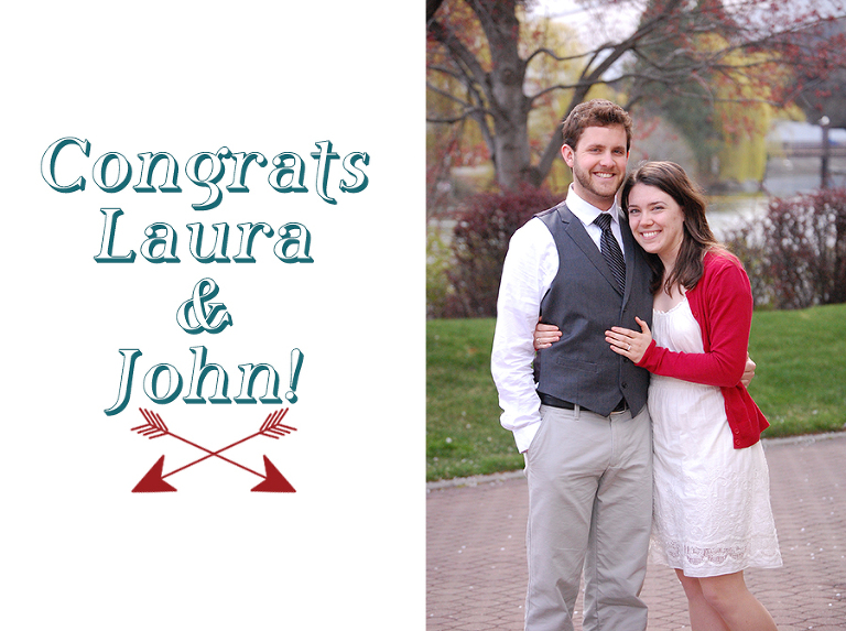 Laura and John giveaway winners