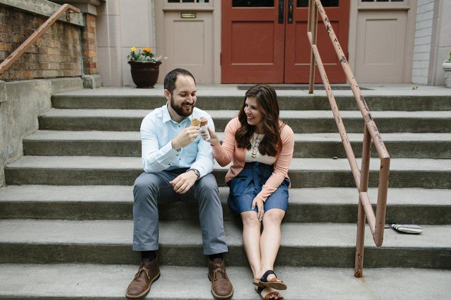 Ice Cream Engagement Session // Emily Wenzel Photography