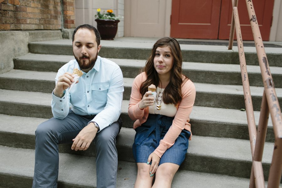 Ice Cream Engagement Session // Emily Wenzel Photography