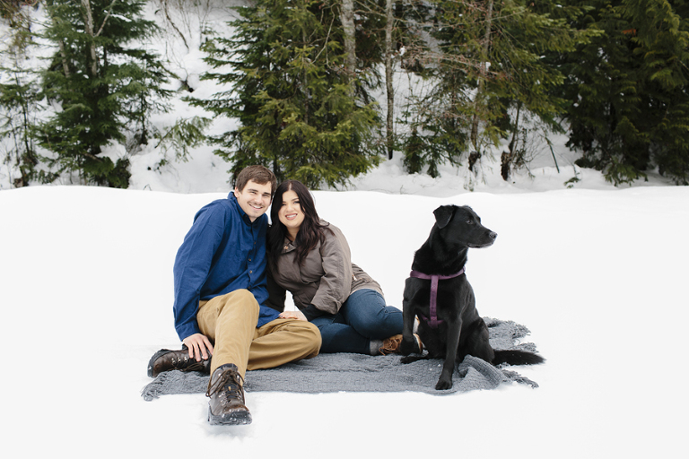 Mt Spokane Engagement // Emily Wenzel Photography
