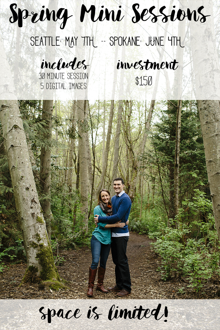 Spring Mini Sessions // Spokane Family Photography // Emily Wenzel
