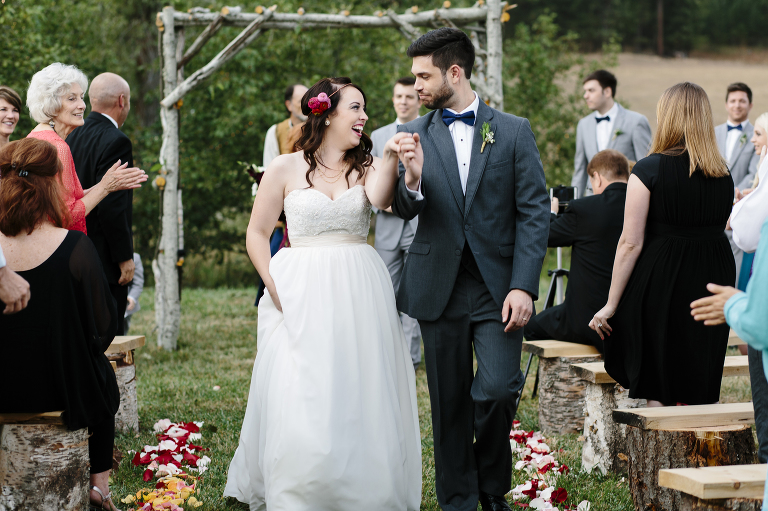 Sandpoint Wedding Ceremony Backyard // Emily Wenzel Photography