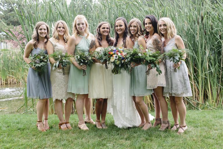 Mix Match Bridesmaids Dresses // Emily Wenzel Photography