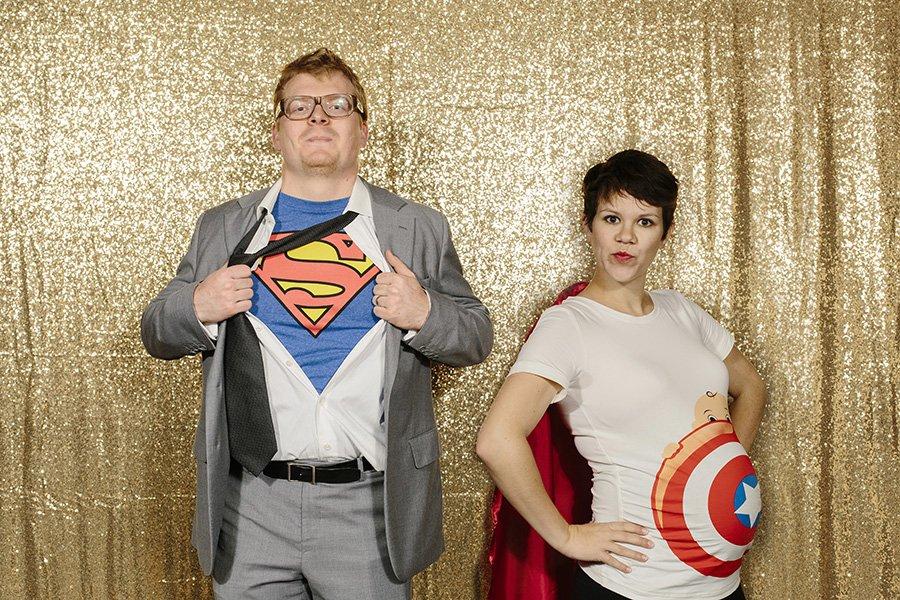 Superhero Maternity Costume // Captain America Costume Maternity