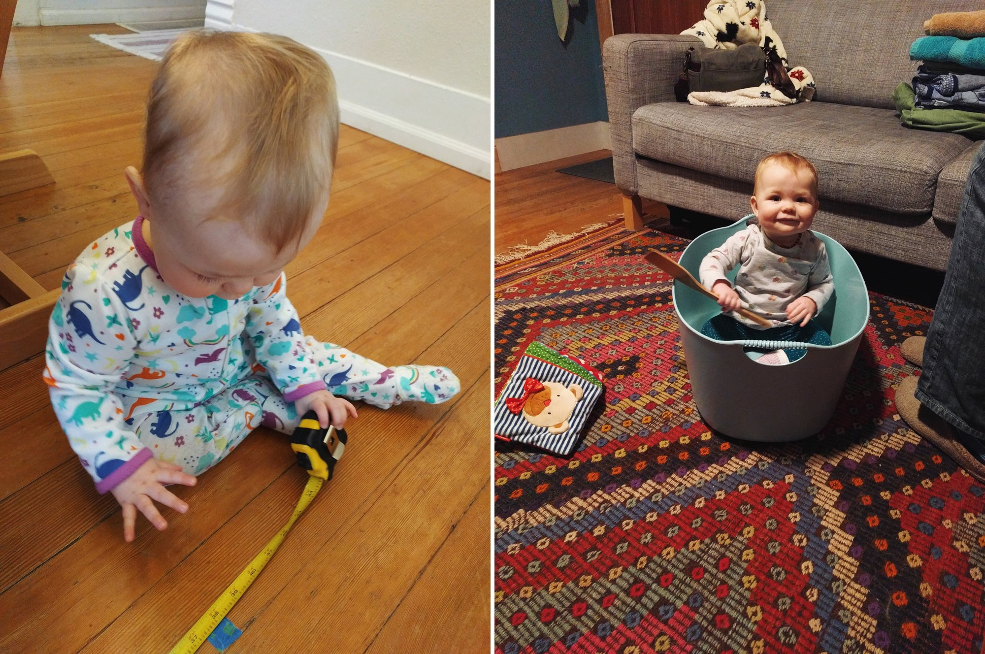 Home Renovation with Baby in a Laundry Basket