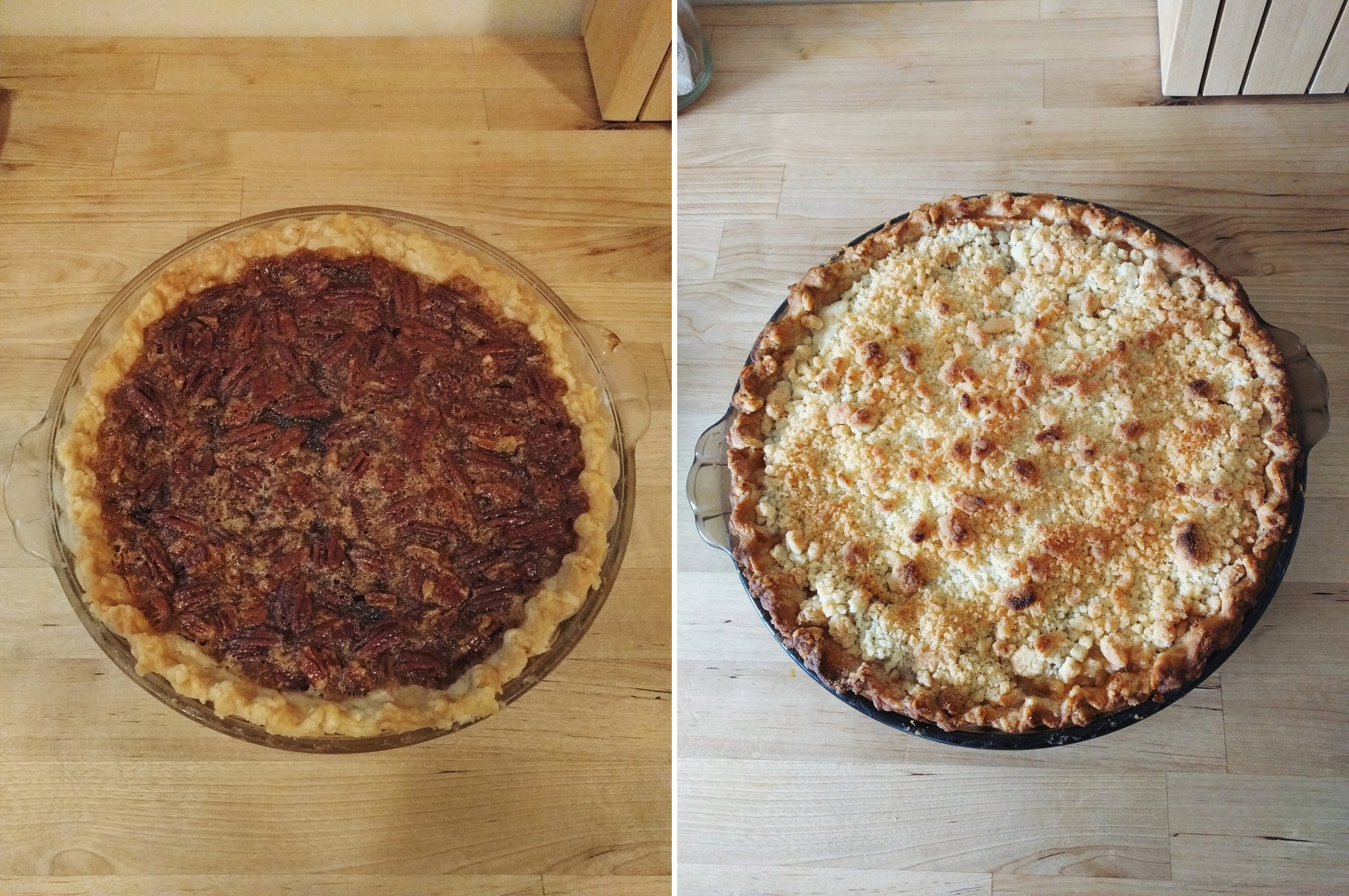 Pecan and Apple Pies for Thanksgiving