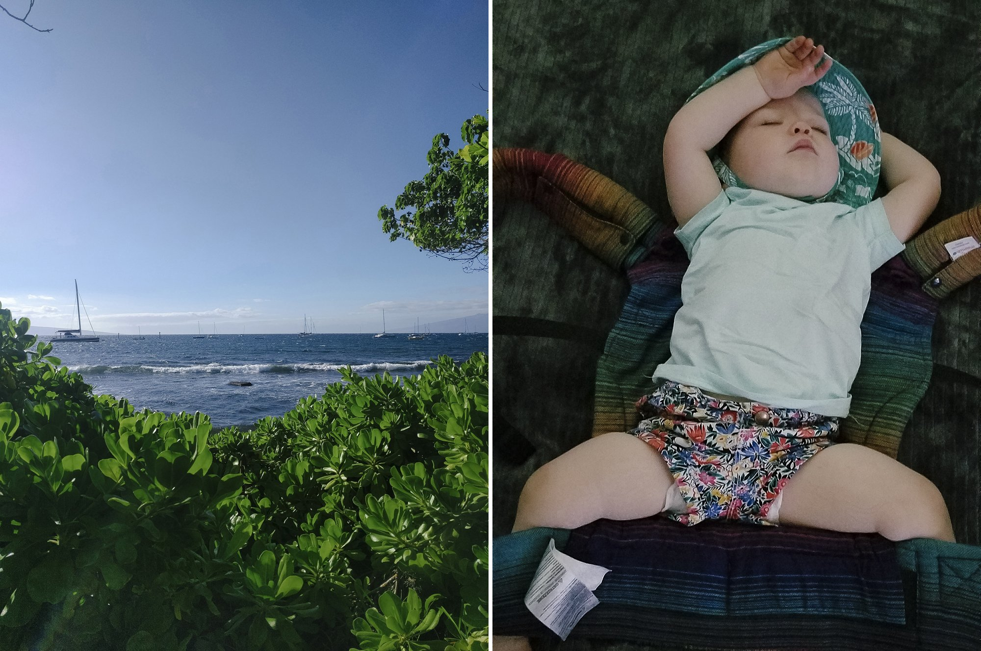 Travel with a baby to Hawaii toddler in Maui