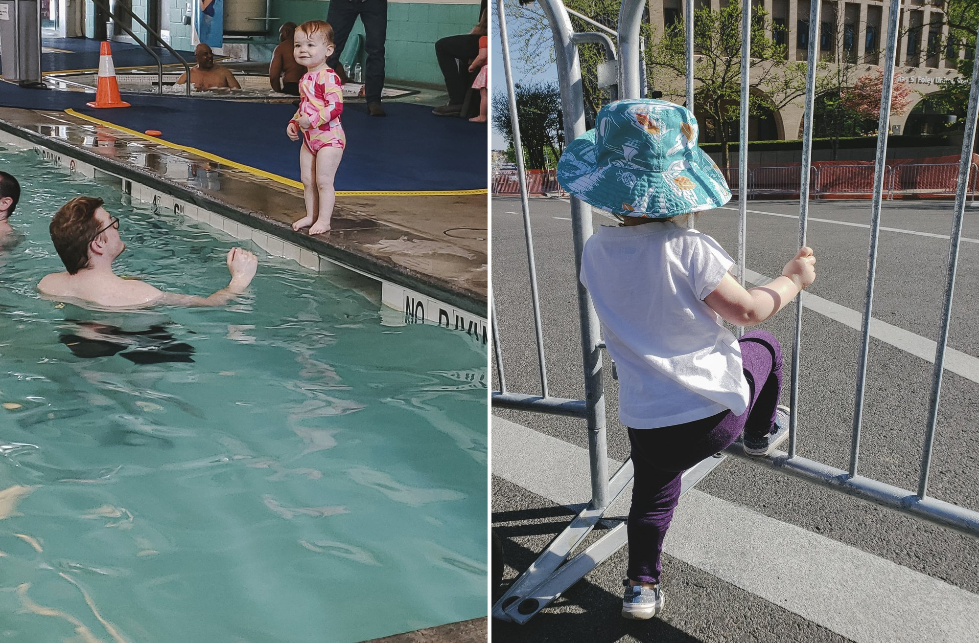 Swim lessons and watching bloomsday // Spokane with Kids