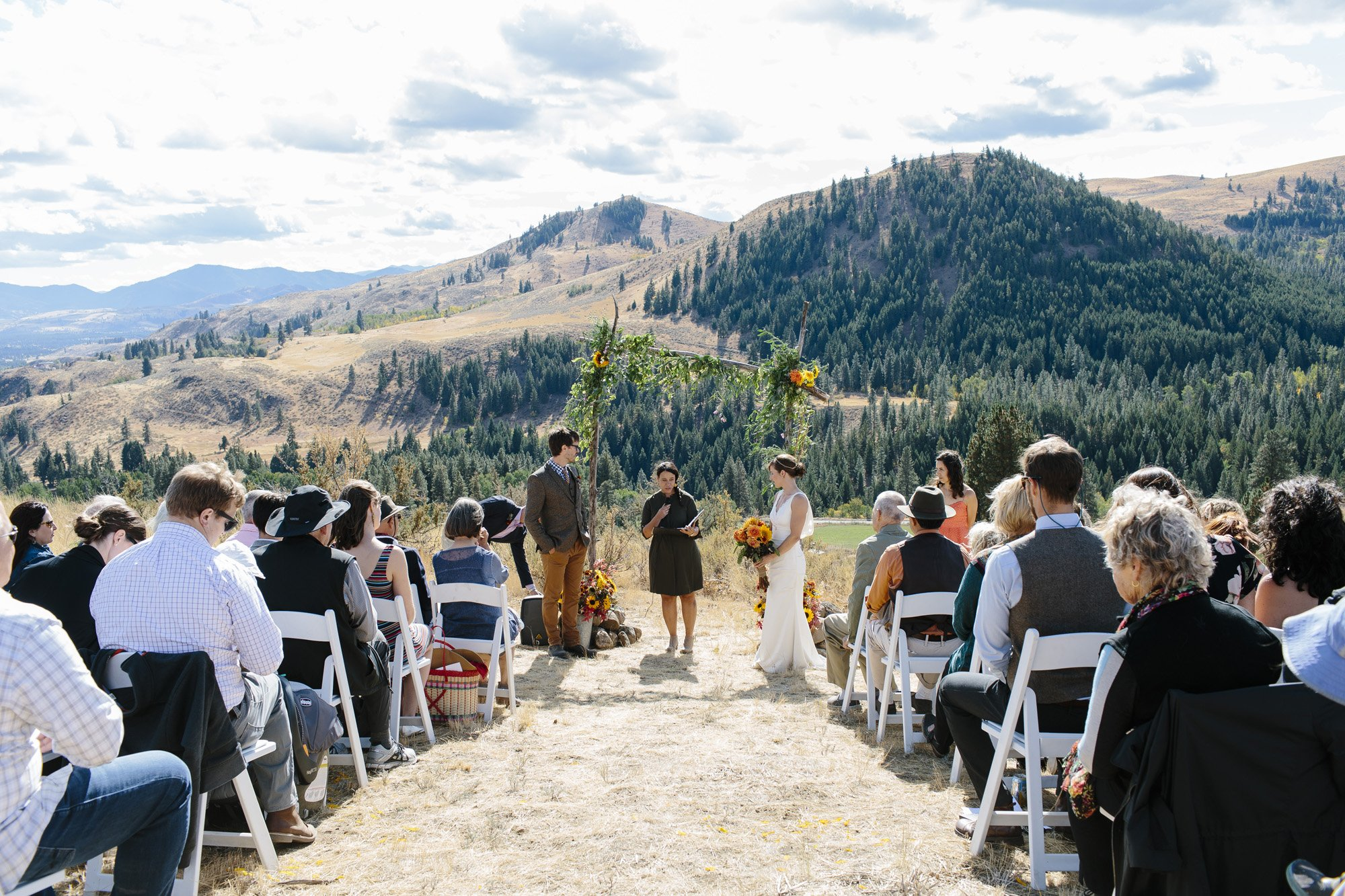 Mountaintop Wedding Ceremony in the Methow Valley