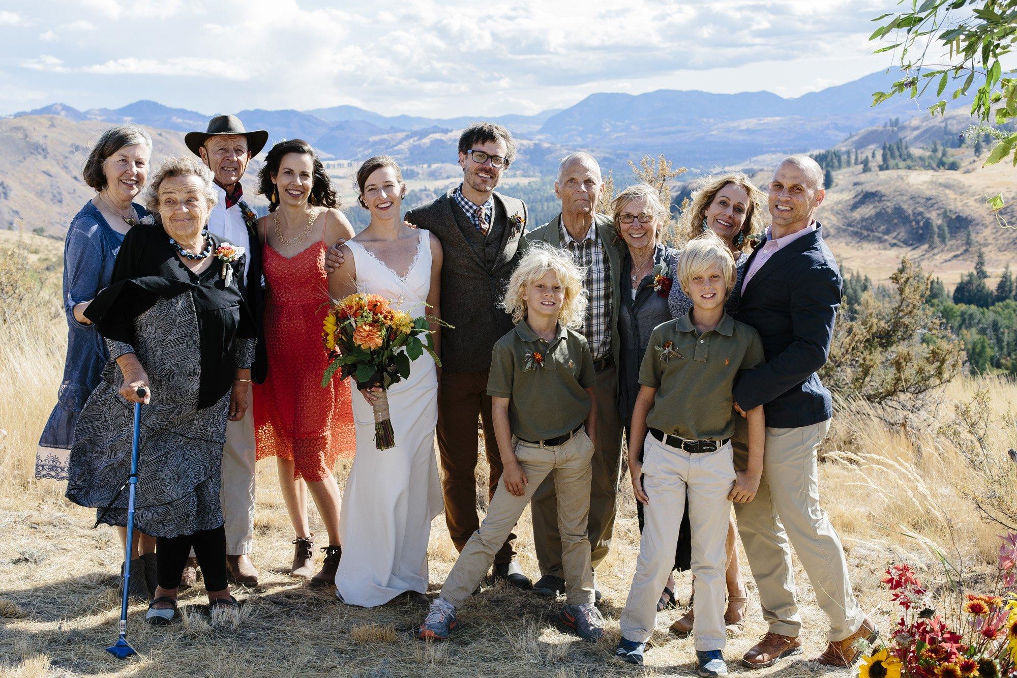Small family photos for wedding