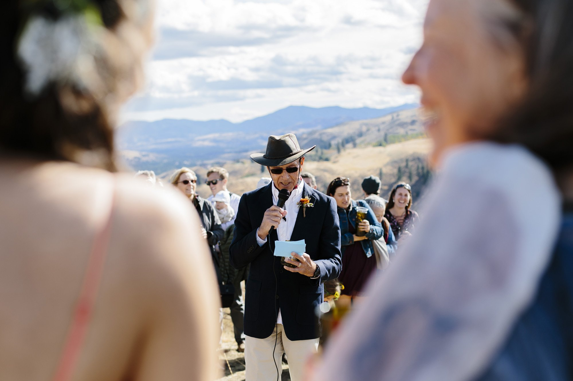 Father of the bride toast after the ceremony