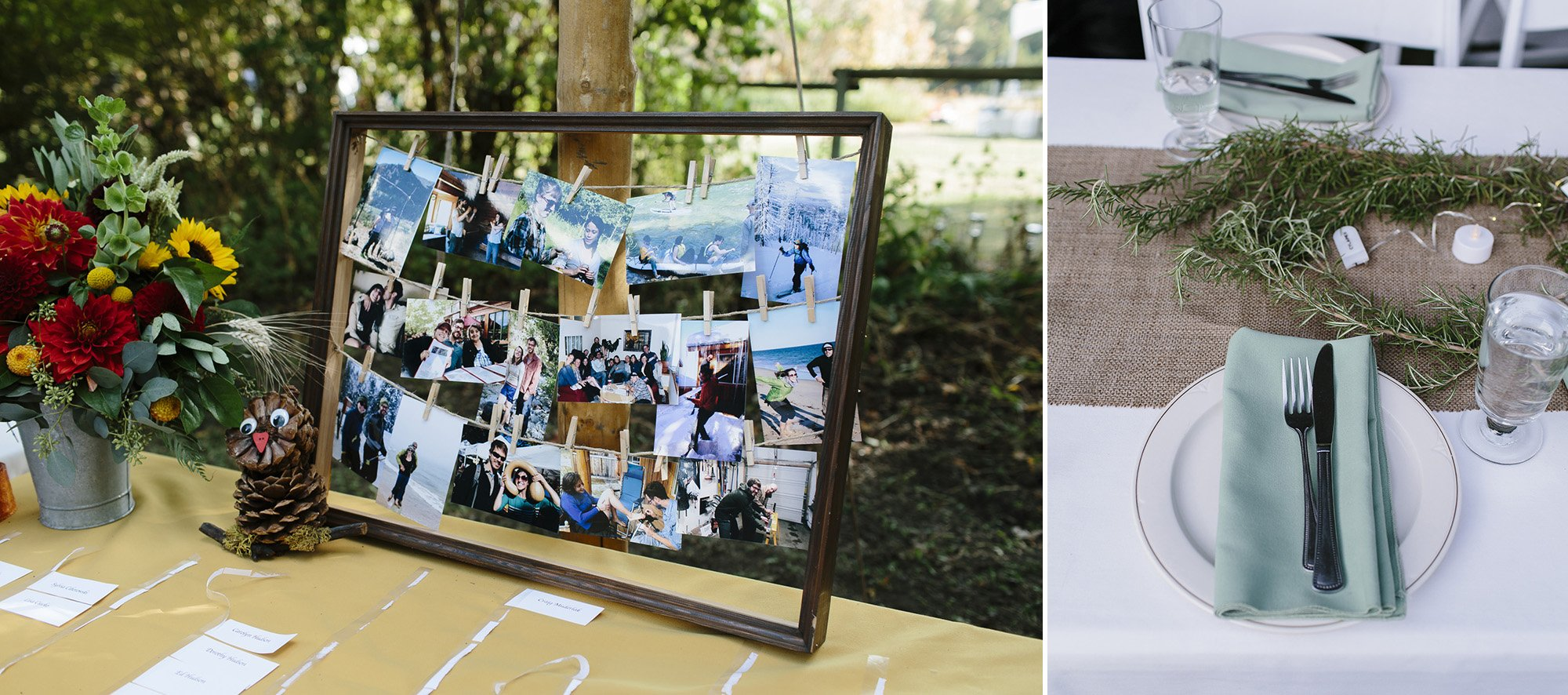 Simple details for wedding reception Methow Valley Wedding