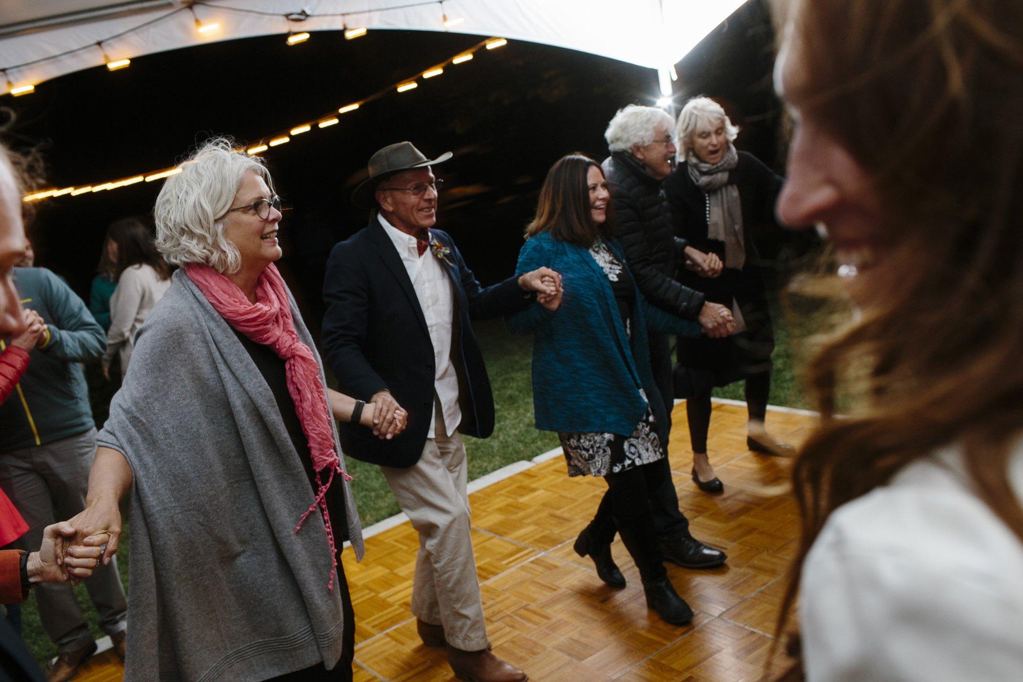 Cub Creek Ranch wedding reception Winthrop Methow Valley