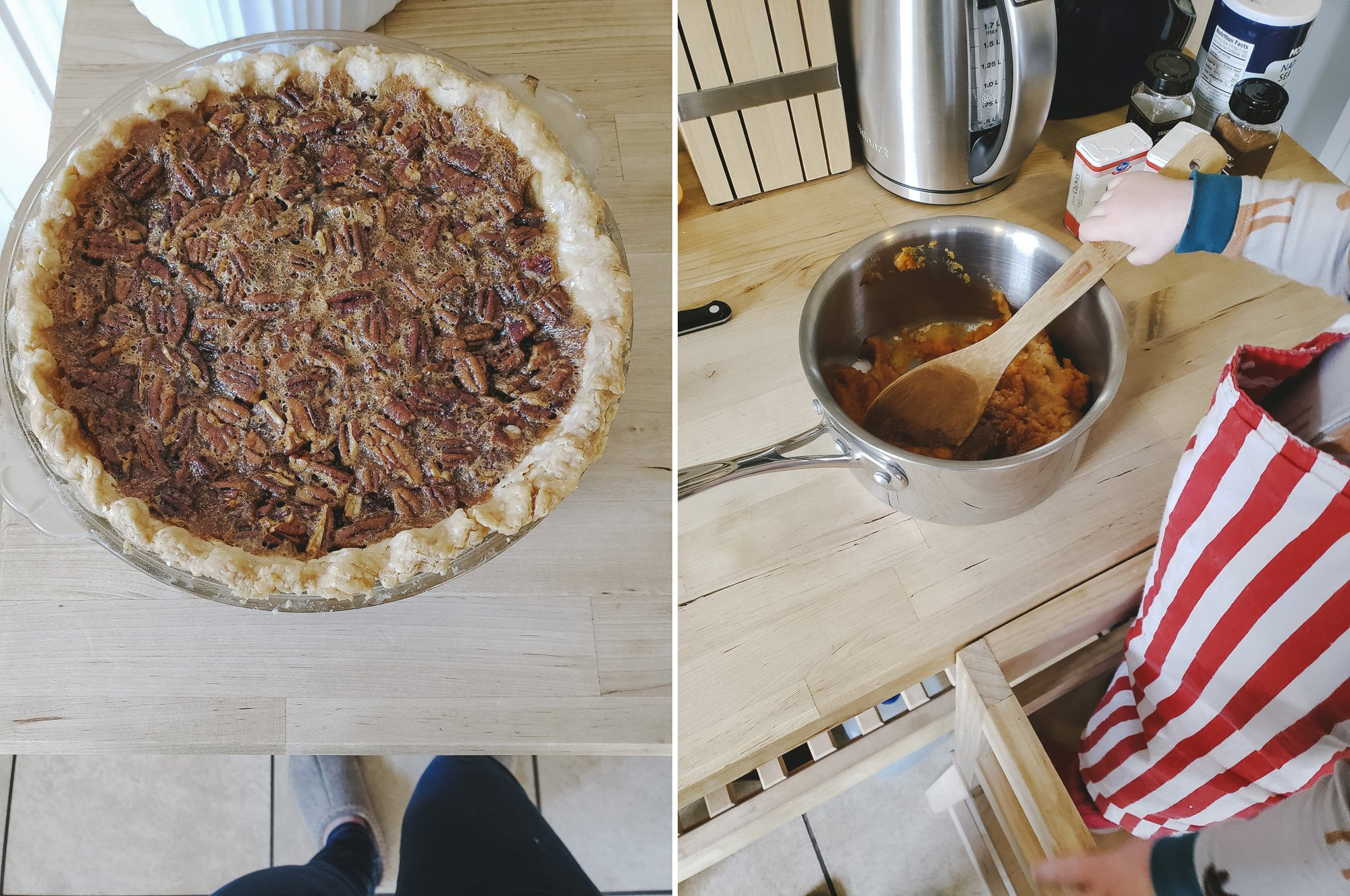 Pecan Pie and Pumpkin Pie for Thanksgiving