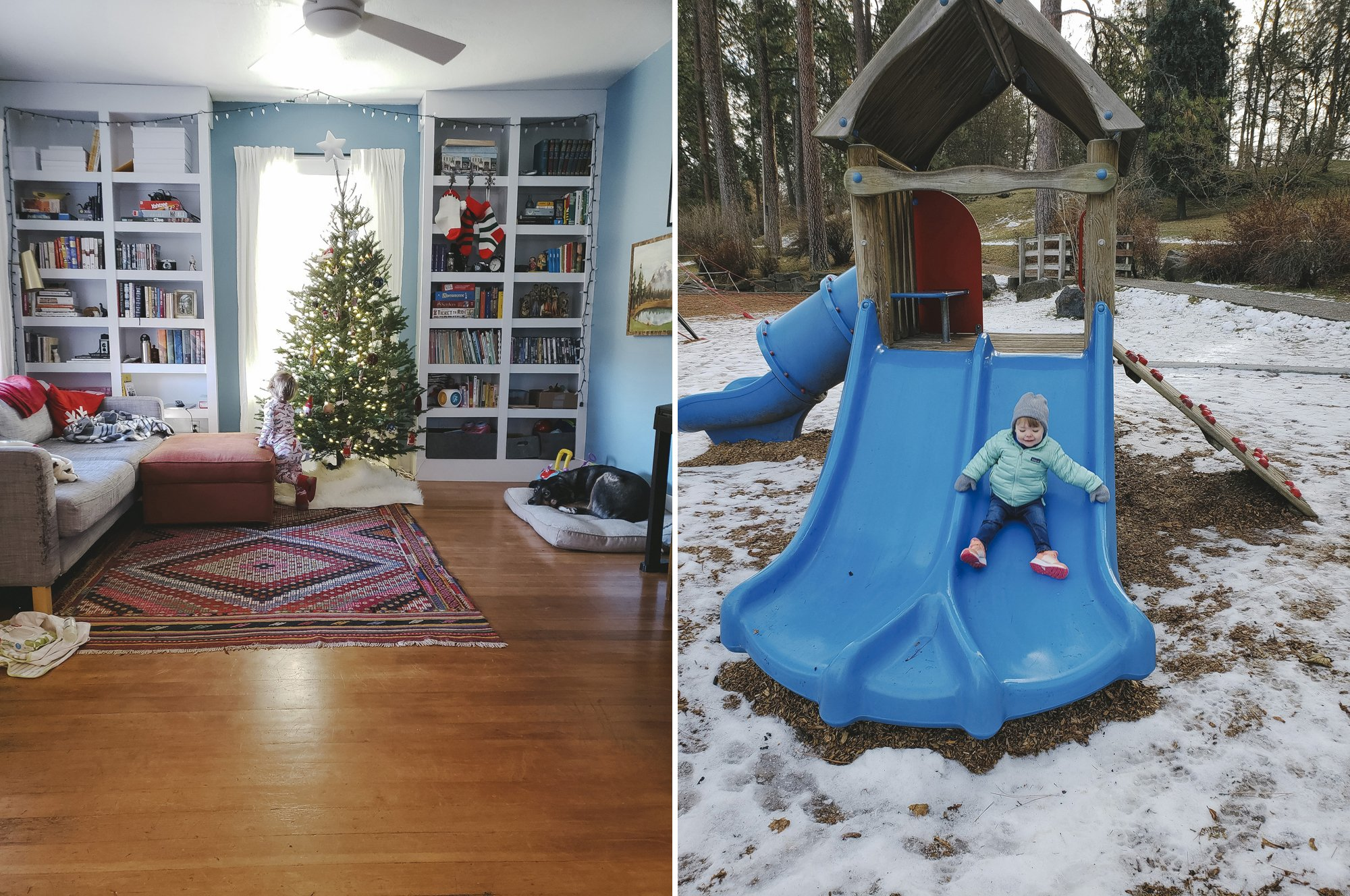 Simple Christmas Decor and Outdoor Fun in the Snow