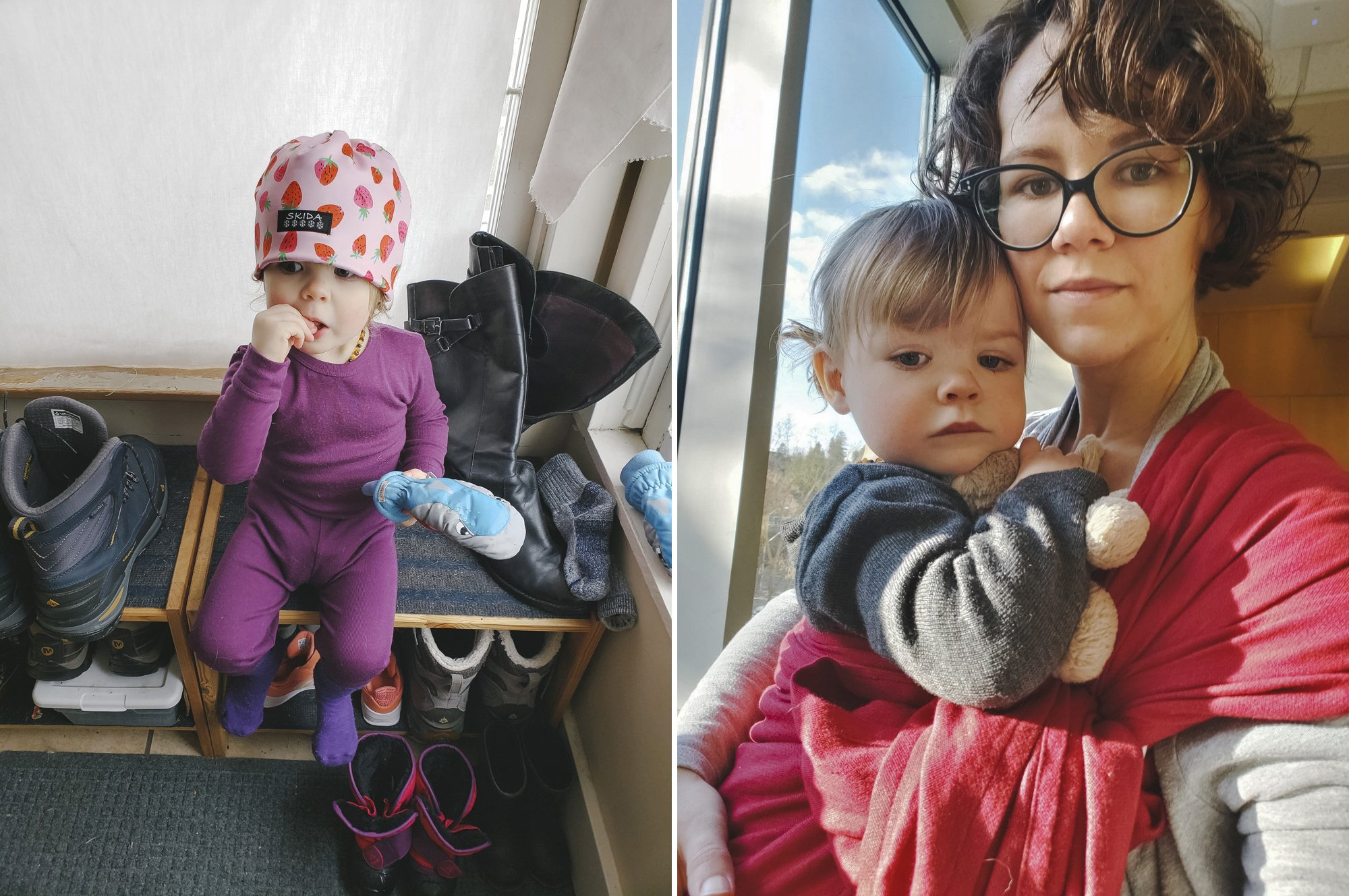 Winter gear for outdoors with toddlers and making hospital visits easier