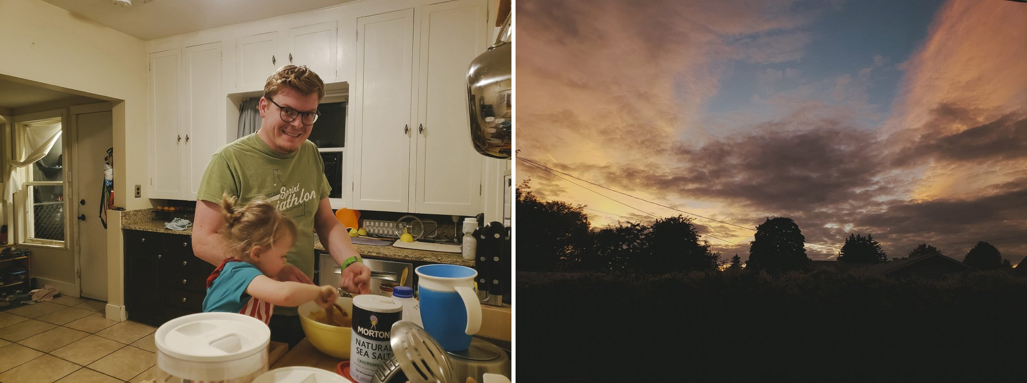 Cooking with Toddlers, Fall Sunsets