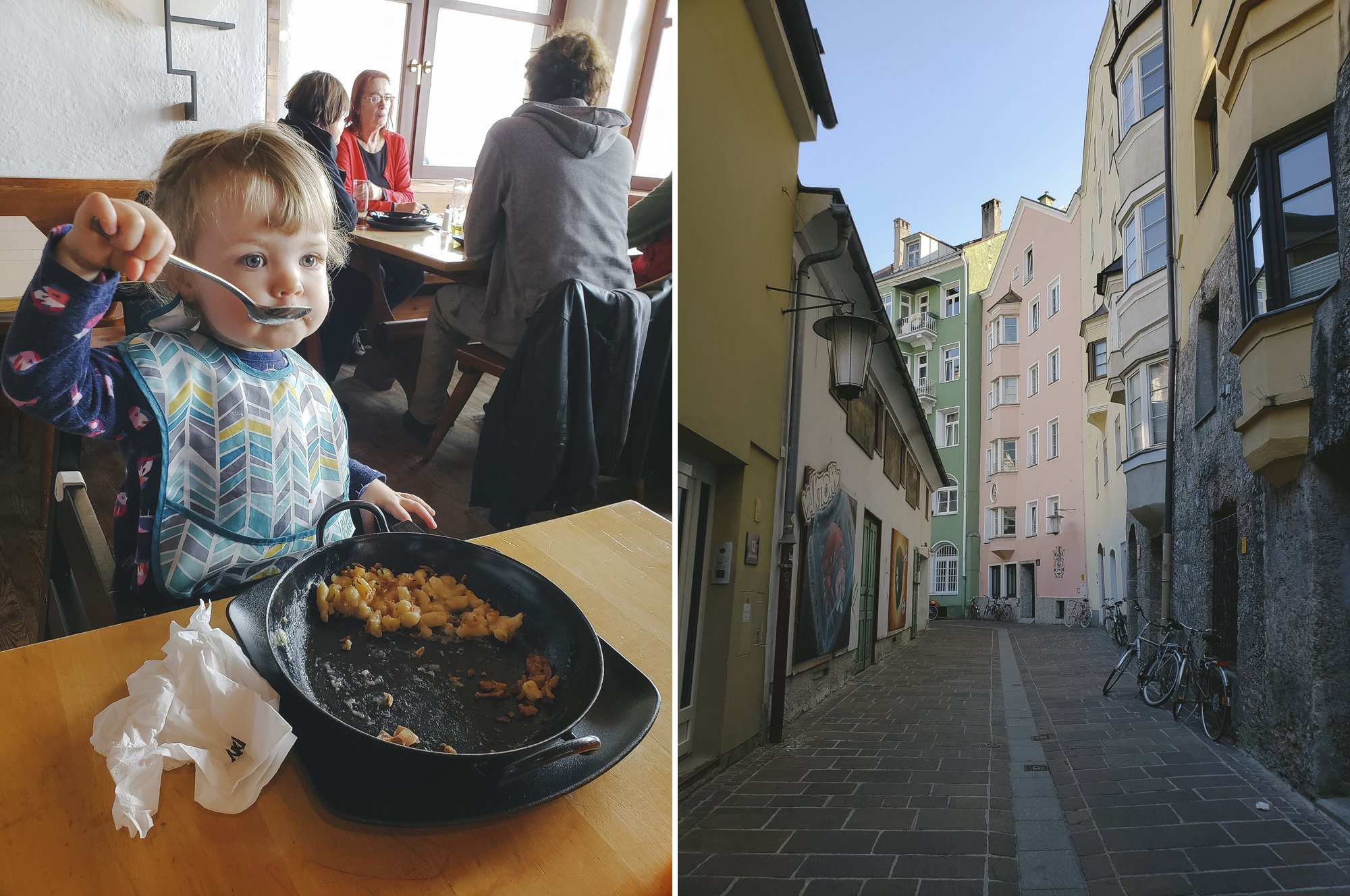 Innsbruck and the Nordkette with a toddler
