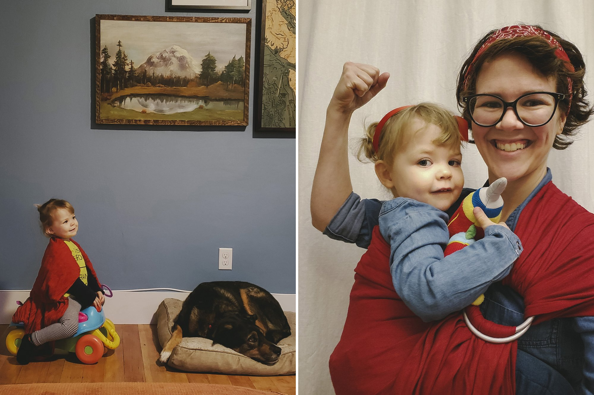 Toddler and Mama Halloween Costume - Rosie the Riveter