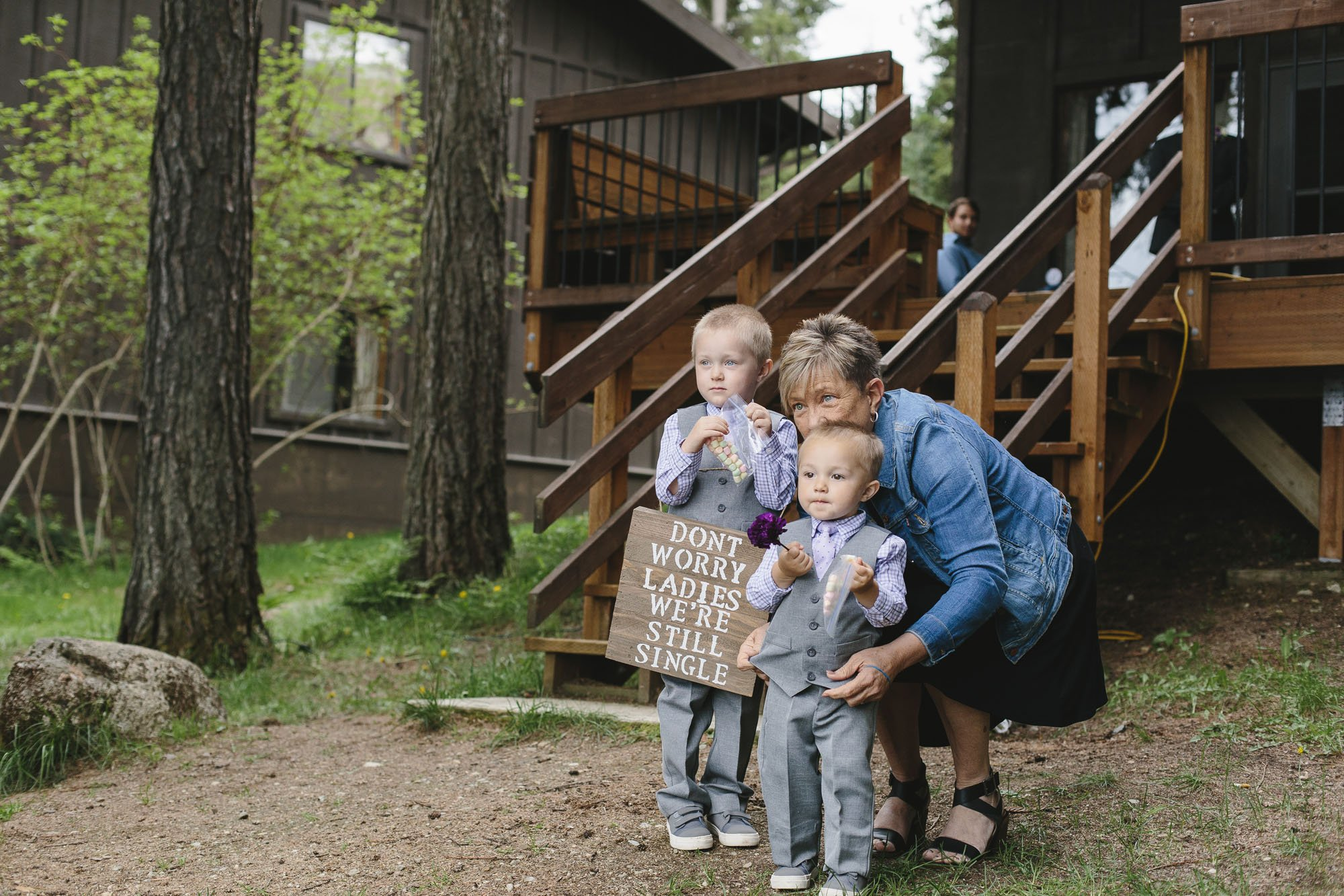 ring bearers at wedding // Emily Wenzel Photography