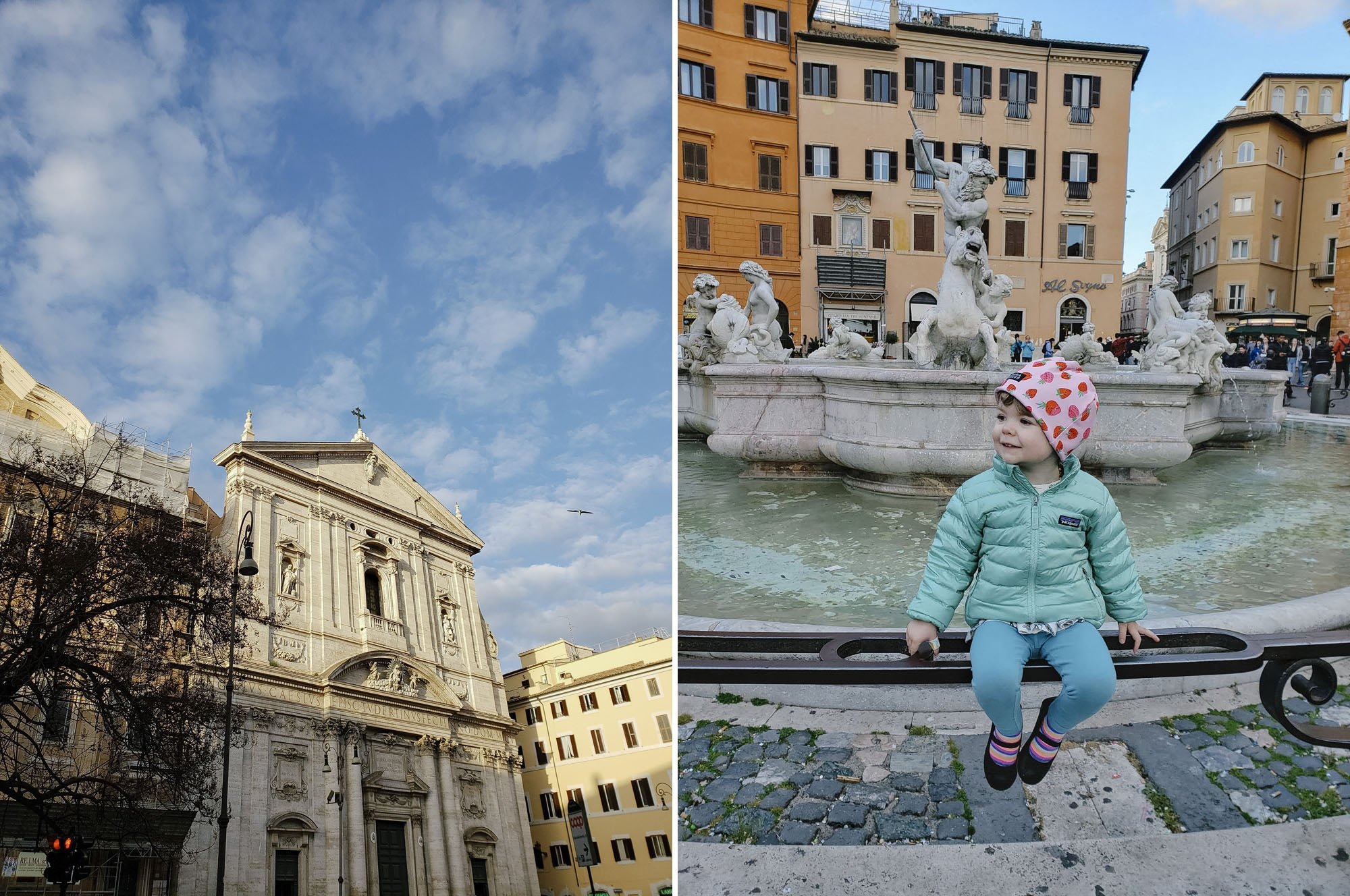 Rome Churches and Fountains with a Toddler
