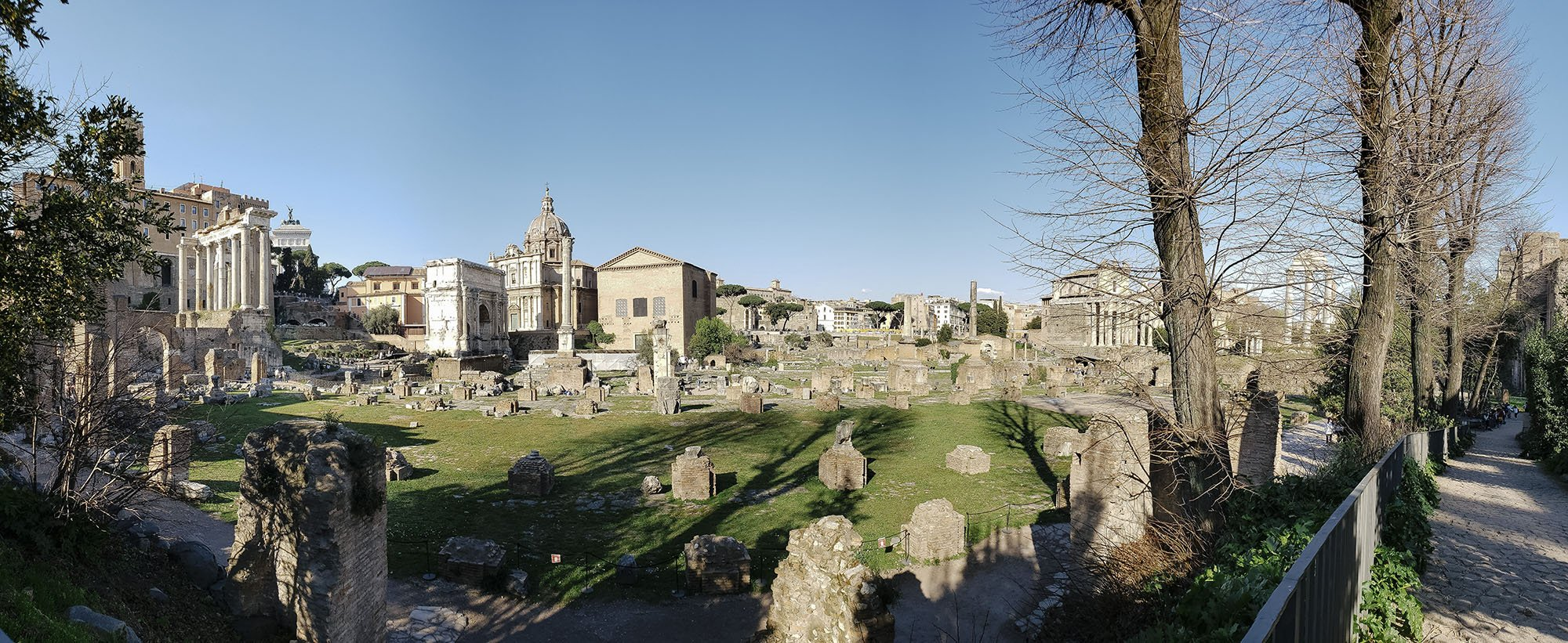 The Roman Forum and Colosseum