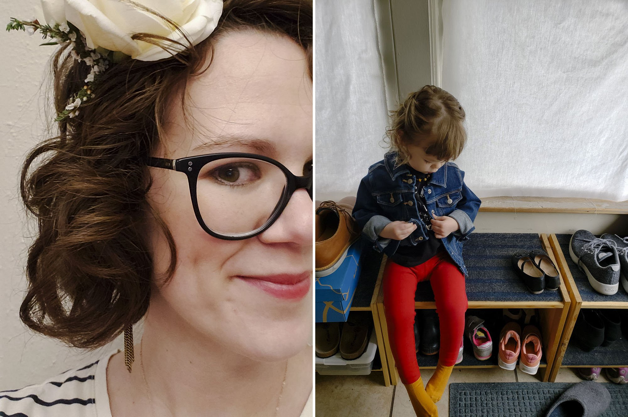 Flowers in my hair // toddler fashion
