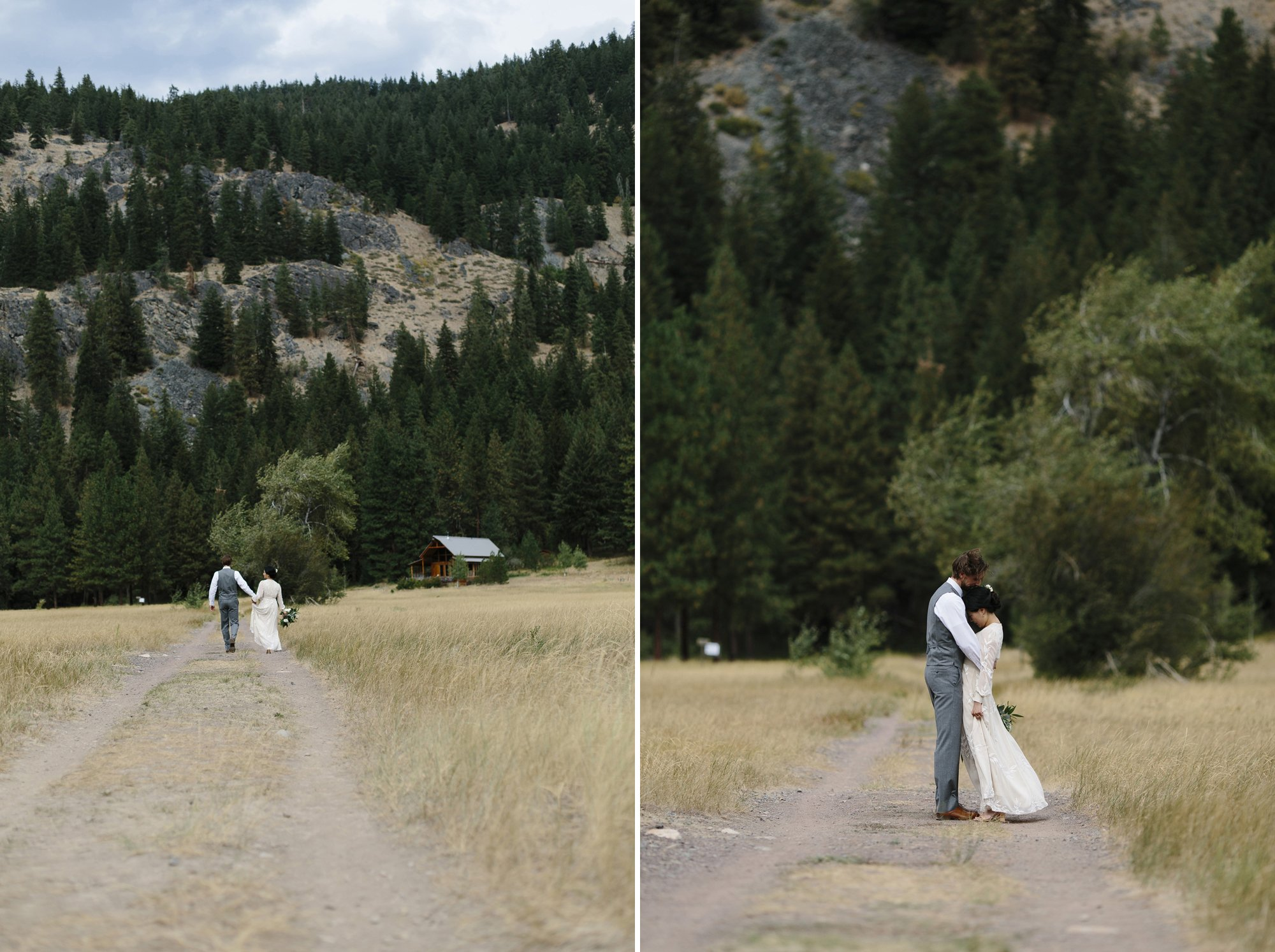 Simple wedding portraits in the Methow Valley