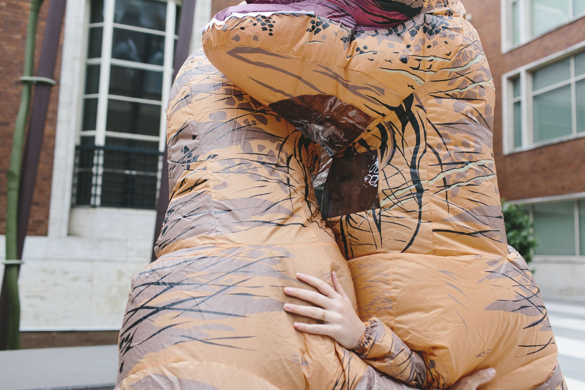 Dinosaur Costume Engagement Session // Emily Wenzel Photography