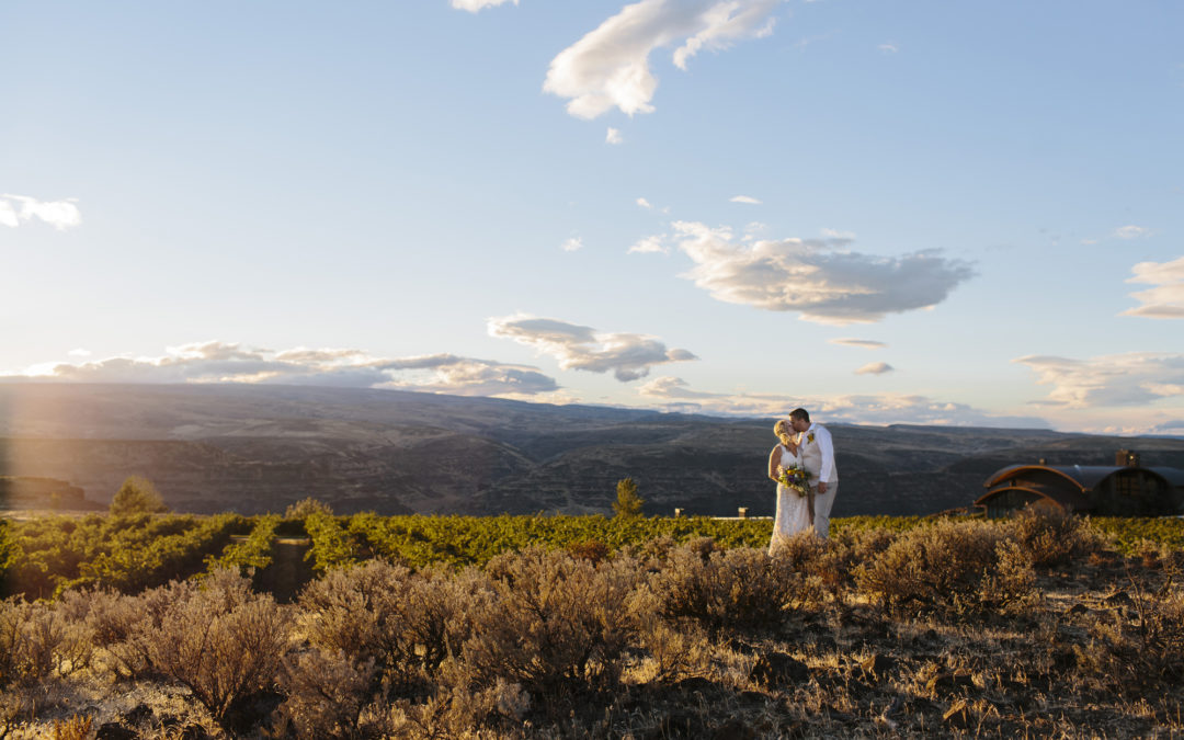 Leslie & Drew Elope — Cave B Winery // Seattle Elopement Photography
